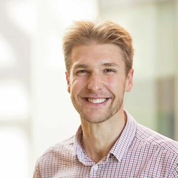 Lege og doktorgradsstipendiat Sebastian Meltzer ved Akershus universitetssykehus. (Foto: Beate Willumsen)