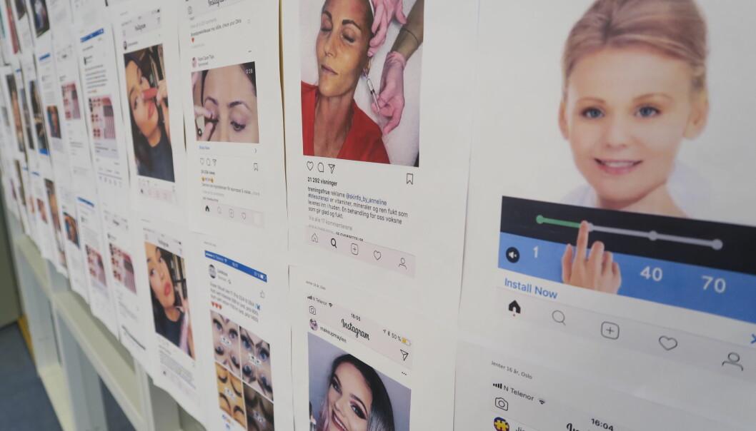 – Mange av de unge er kritiske til reklamen. Samtidig har de vanskelig for å gjenkjenne reklame fra annet innhold på sosiale medier, sier forsker. (Foto: Kamilla Knutsen Steinnes / Helene Maria Fiane Teigen)