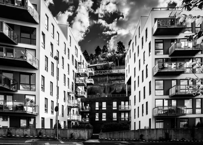 Klippelandskap - midt i byen Foto: Knut Werner Lindeberg Alsén