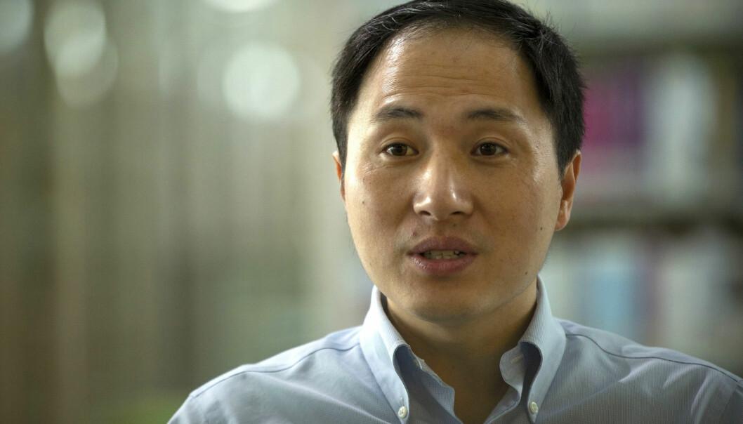 Forsker He Jiankui brukte genredigerings-teknologien CRISPR til å endre DNA-et til to embryo som fikk utvikle seg til barn. Nå viser nye forskning at det endrede genet kan ha gitt de to jentene høyere risiko for tidlig død. (Foto: AP Photo/Mark Schiefelbein/Scanpix)