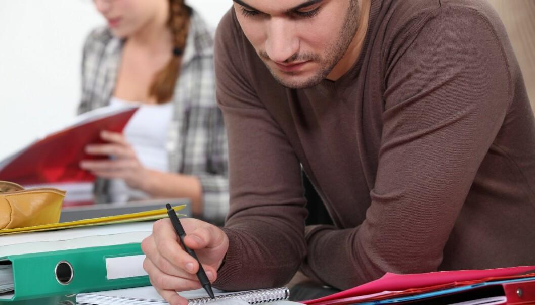 – De får ikke jobb som passer utdannelsen, og utdanningsinstitusjonene kan ikke simulere praksis for studentene. Den må de skaffe seg selv, sier professor Erik Ø. Sørensen ved NHH.  (Illustrasjonsfoto: Colourbox)