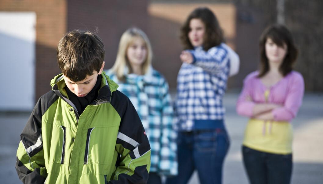 – Det er flaut å bli mobbet, og mange prøver å skjule det for både læreren og foreldrene. Hvis læreren har et godt forhold til elevene, er det lettere å si ifra. Foreldrene er ikke på skolen og kan ikke ta ansvar når de ikke er der, sier Anne Mari Undheim, forsker ved NTNU. (Foto: O Driscoll Imaging, Shutterstock, NTB scanpix)