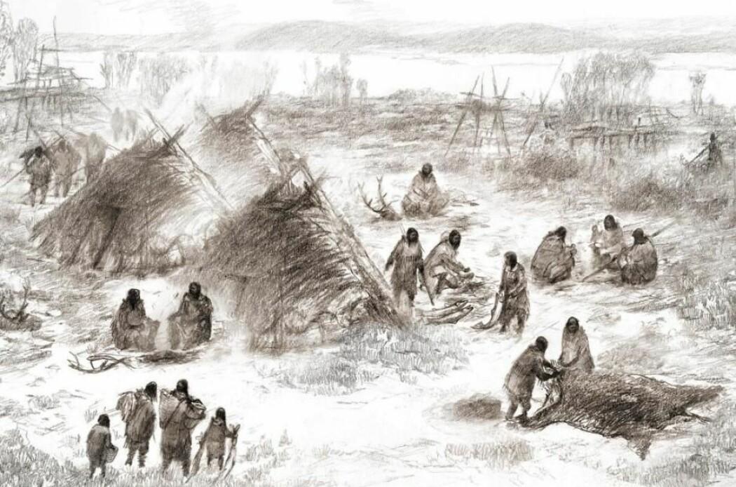 Forskere kommer med nye perspektiver på de første amerikanerne. (Illustrasjon: Eric S. Carlson og Ben Potter)