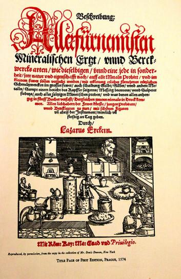 Pål Ulseth og Otto Lohne holdt seg til en oppskrift fra 1574 av den saksiske og bøhmiske myntmesteren Lazarus Ercker. (Foto: Idun Haugan, NTNU)