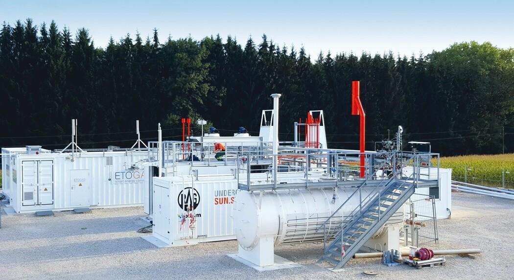 I prosjektet «Underground Sun Storage» ble hydrogen laget av solkraft lagret i et naturlig reservoar i Østerrike. I et lignende forskningsprosjekt i Argentina, ble elektrisitet fra vindkraft spaltet til hydrogen og lagret i et gassreservoar. (Foto: RAG)