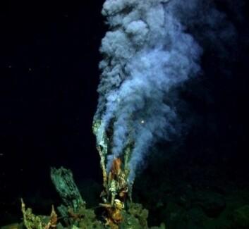 Hydrotermale skorsteiner kan være dramatiske og lette å få øye på. Det motsatte er tilfelle med kalde utslippssteder der metan så godt som usynlig siver ut fra havbunnen. (Foto: Fisher Deep Sea Lab, Pennsylvania State University)