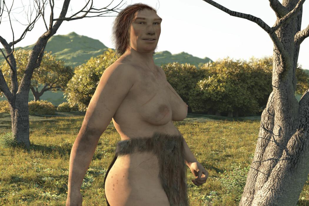 Forskning antyder at neandertaler-bestanden ble redusert sakte men sikkert. Det er mulig at mindre fruktbarhet blant de neandertalske kvinnene er årsaken. (Illustrasjon: Nicolas Primola/Shutterstock/NTB scanpix)