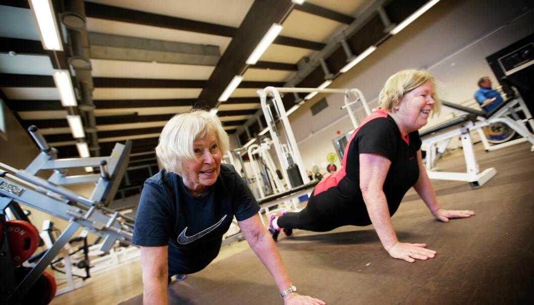 For første gang er personer som har demens på sykehjem, inkludert i en studie av effekten av høyintensitetstrening i Norge. (Illustrasjonsfoto: Martin Lundsvoll, Aldring og helse)