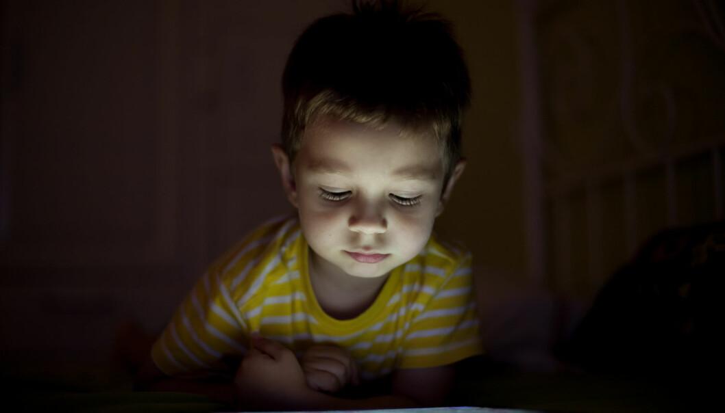 Bare vi får mye lys tidligere på dagen, svekker det ikke søvnen å surfe på mobilen sent på kvelden. Studien tyder på at vanlig lys beskytter mot negative virkninger av kveldssurfing på nettbrett, pc eller mobil. (Foto: Dedi Grigoroiu, Shutterstock, NTB scanpix)
