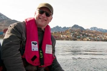 Jørgen Schou Christiansen på feltarbeid på Grønland. (Foto: Julius Nielsen)