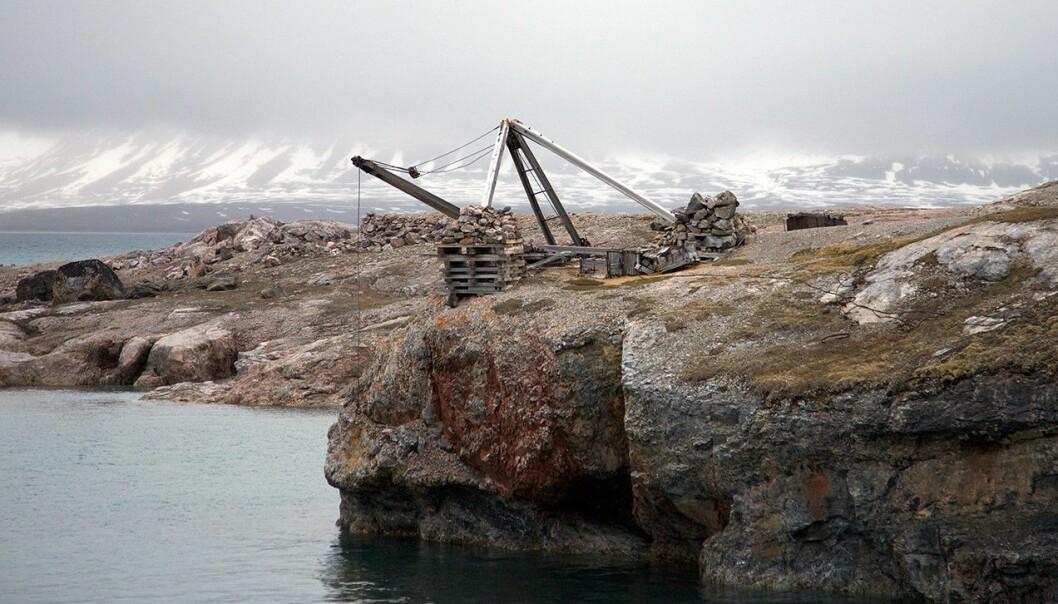 Utskipingskaia står som den ble forlatt tidlig på 1900-tallet. (Foto: Karine Nigar Aarskog)