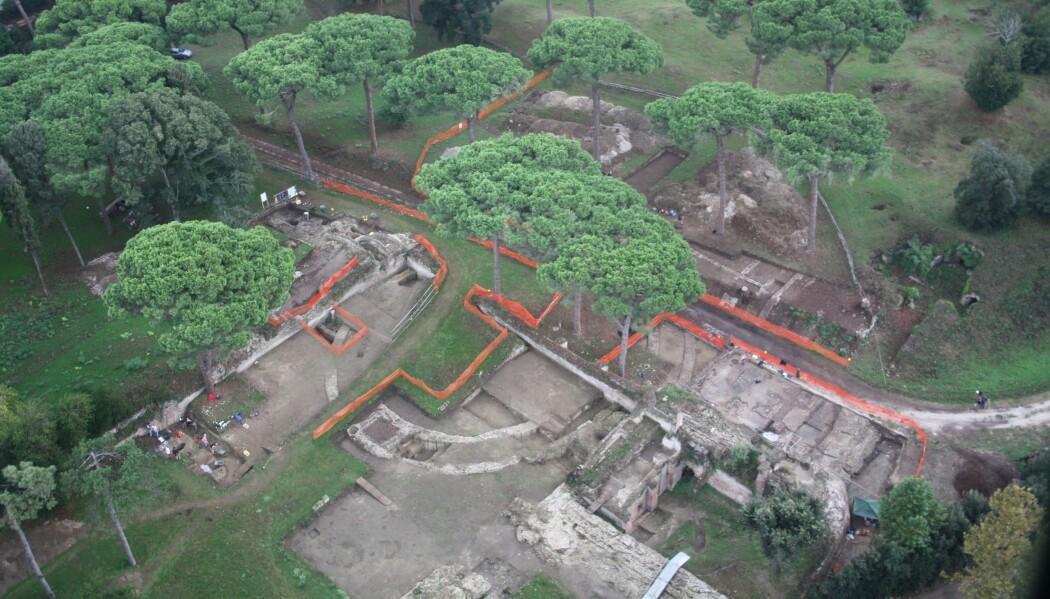 Portus utenfor Roma var en viktig havn i mer enn 400 år under Romerriket. Arkeologene har avdekket flere bygninger. Bildet er fra 2009. (Foto: Portus Project)