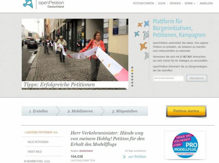 Aggresjonsnivået er høyt i diskusjoner om temaer som skatt på det tyske nettstedet openpetition.de. (Foto: skjerpdump av openpetition.de)