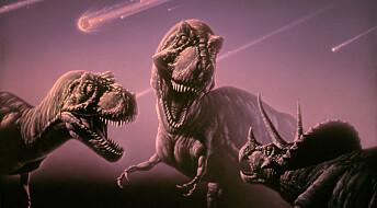 Asteroide kan ha drept dinosaurene med sot fra brennende olje