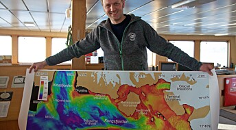 Kart over undersjøisk landskap