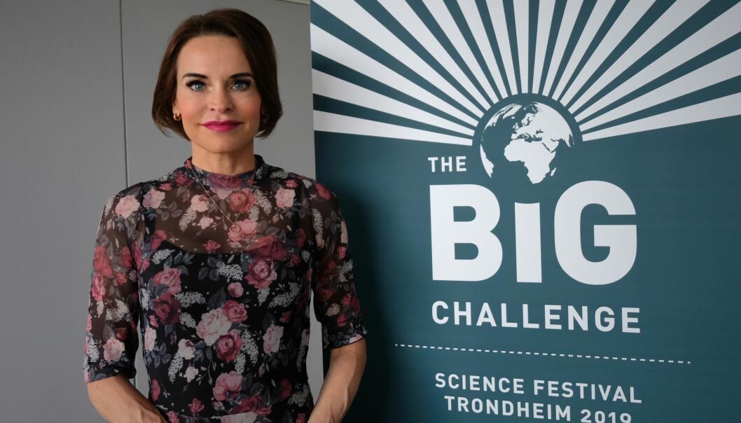 Under the Big Challenge Festivalen i Trondheim delte fysiker Maria Strømme sine optimistiske tanker om en bærekraftig utvikling – takket være teknologi. (Foto: Karoline Spanthus Bjørnfeldt)