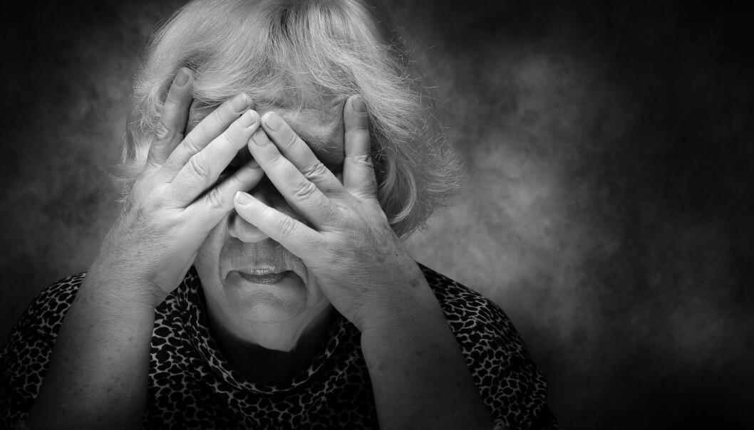 Resultatene av en ny studie tyder på at angst og angstsymptomer er utbredt blant sykehjemsbeboere med demens. (Foto: Oleg Golovnev / Shutterstock / NTB scanpix).