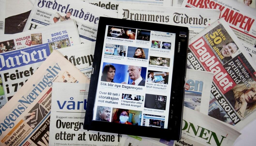 49 prosent av den norske befolkningen oppgir å være nyhetssultne.  (Foto: Stian Lysberg Solum / NTB SCANPIX)