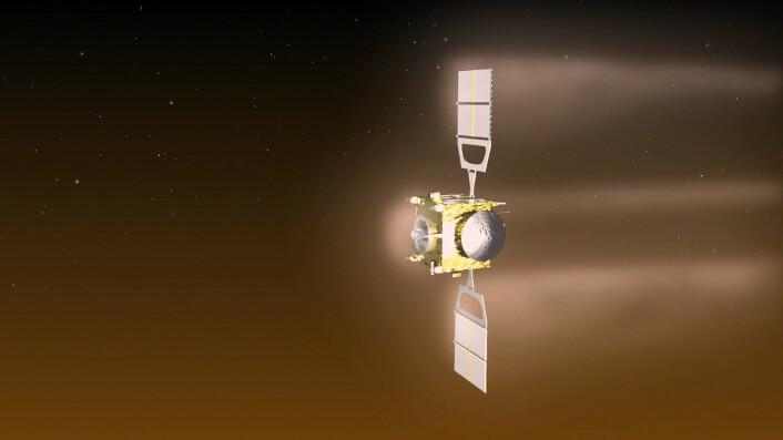 ESAs romsonde Venus Express ble skutt opp i 2006 og jobbet i bane rundt Venus til 2014. (Foto: ESA/C. Carreau)