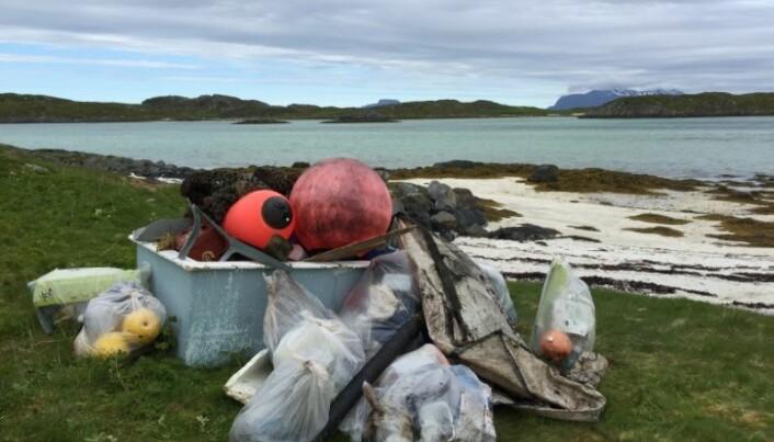 Søppel på stranda ødelegger naturopplevelsen for de fleste. (Foto: Ellen Kathrine Bludd)