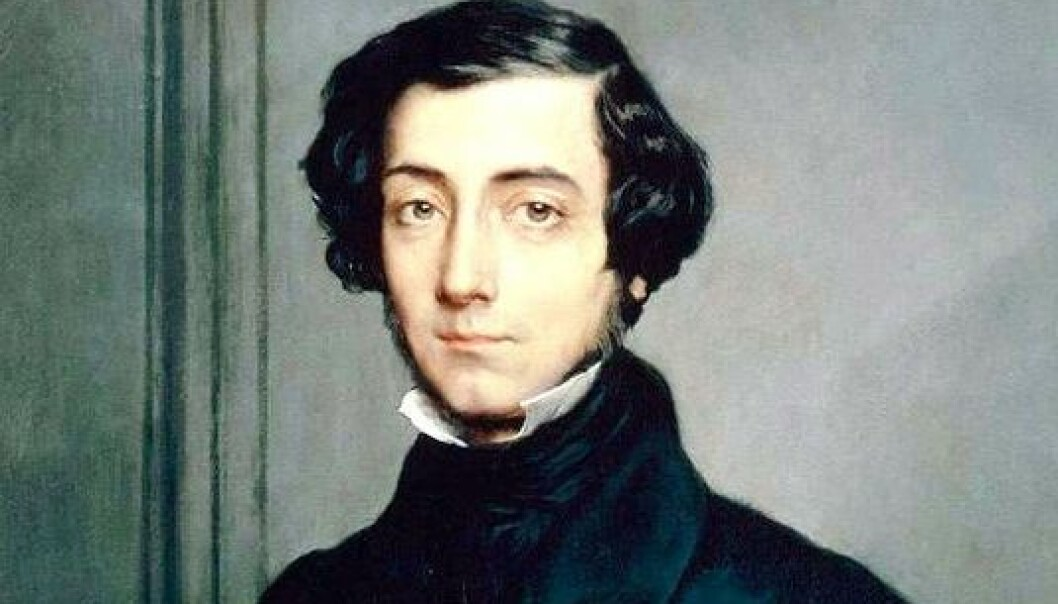 Franskmannen Alexis de Tocqueville ga etter en reise i USA for snart 200 år siden en samfunnsvitenskapelig beskrivelse av amerikanerne. Vi kan fortsatt kjenne igjen mye av det han fortalte om.  Maleri av Théodore Chassériau