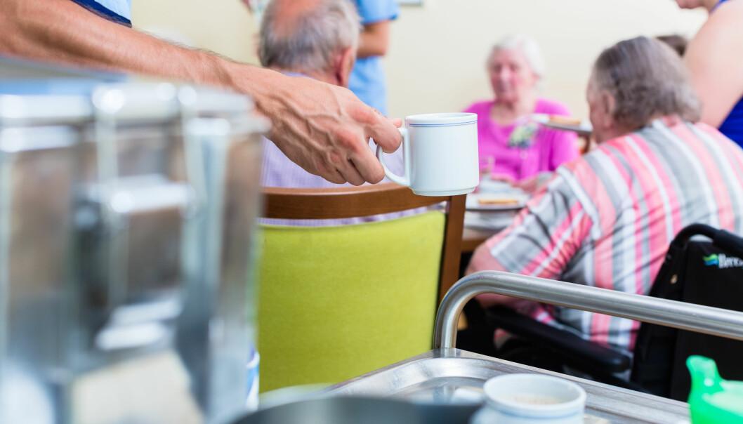 Frivillig innsats bidrar til økt livskvalitet for mange eldre pleietrengende, men gjør ikke eldreomsorgen billigere. Snarere tvert imot.  (Foto: Colourbox)