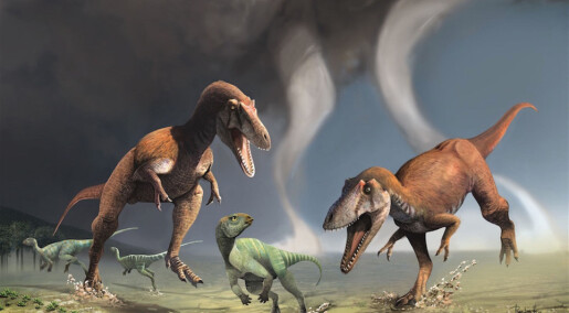 Ny dinosaur med knøttsmå armer