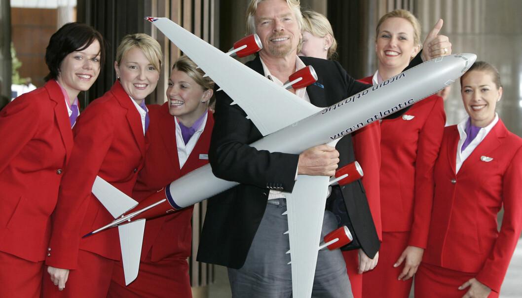 335 av Richard Bransons ansatte i Virgin Atlantic Airways klarte å kutte 21.500 tonn med karbonutslipp på åtte måneder. (Foto: Rob Griffith / NTB Scanpix)