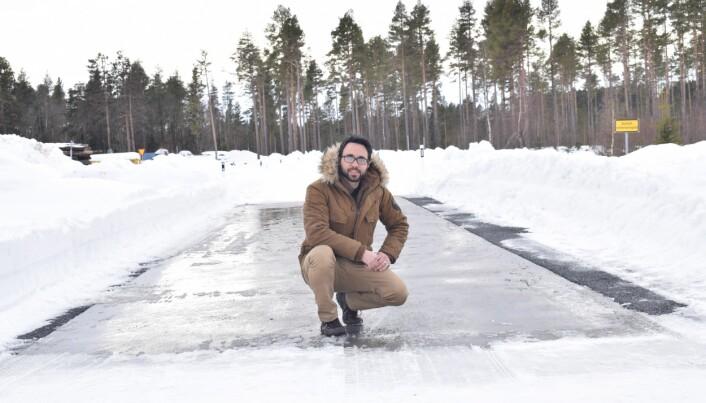 Raheb Mirzanamadi jobber nå med veidesign og isfrie veier ved ÅF Infrastructure i Gøteborg. (Foto: Privat)