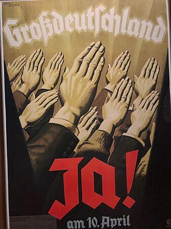 Nazi-tysk propagandaplakat. (Foto: Bård Amundsen)