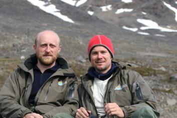 Sveinn Are Hanssen (t.v.) og Børge Moe. (Foto: NINA)