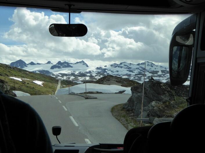 Bussing over fjellet, med utvalgte stopp for å se nærmere på naturtyper. Foto:HAU