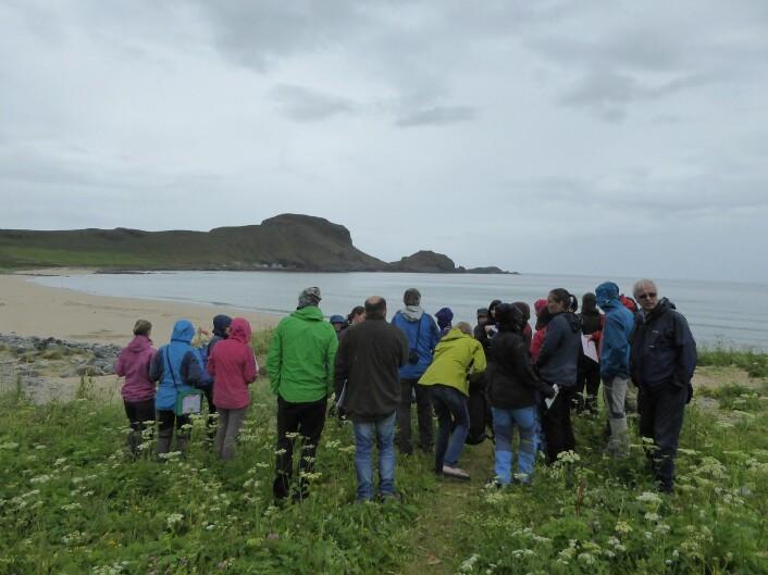 Vi starta lengst vest i Norge, her ved sanddynene på Erviksanden. Foto: HAU