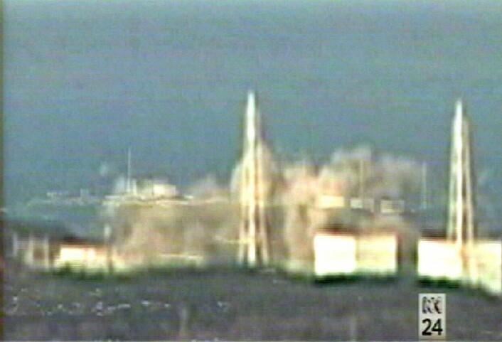 Fukushima-reaktor 1 eksploderer 15. mars 2011 (Foto: Scanpix/ABC TV/EPA) (Foto: Scanpix/ABC TV/EPA)