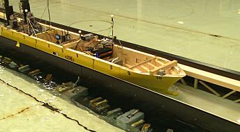 Tester skip i verdens første skipstunnel