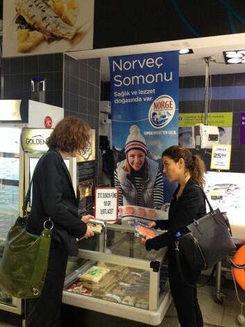 Mange tyrkere har allerede fått smaken på norsk laks og populariteten øker. (Foto: (Foto Gøril Voldnes))