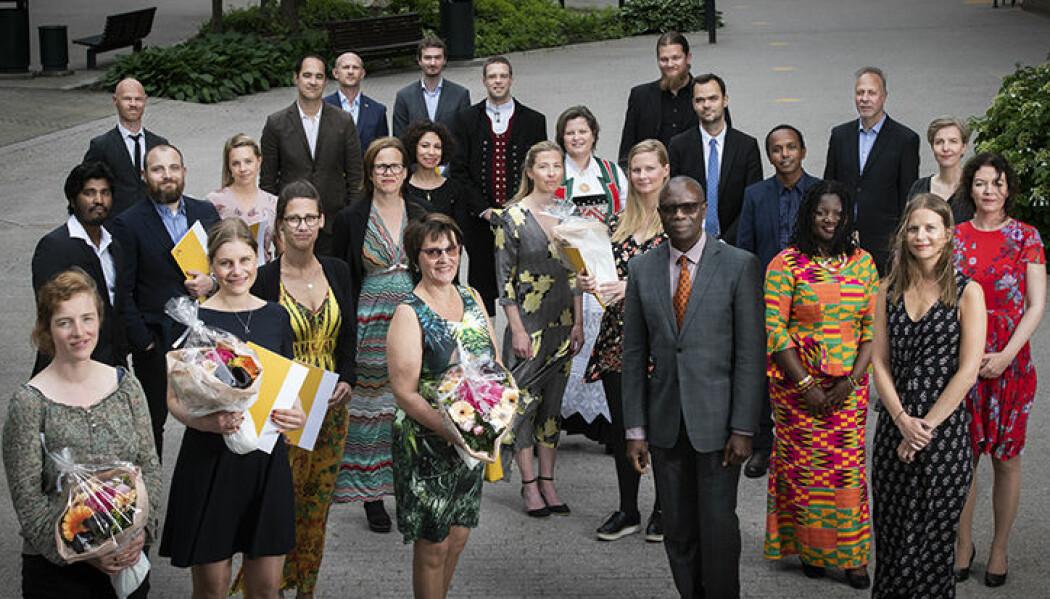 Disse doktorandene ble feiret med en høytidelig seremoni på OsloMet. (Foto: Skjalg Bøhmer Vold.)