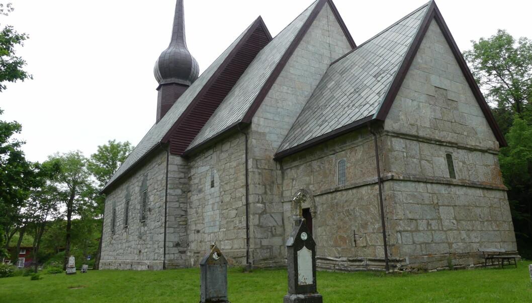 Den gamle kirka på Alstahaug (foto: Ane K. Engvik)