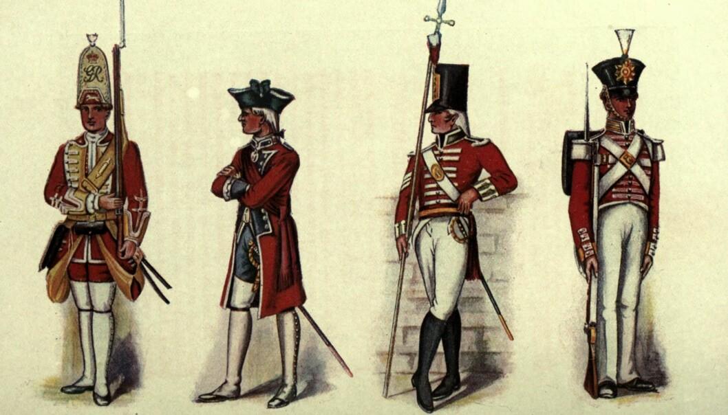Fargeeksplosjonen - 1700-tallet og tollistene