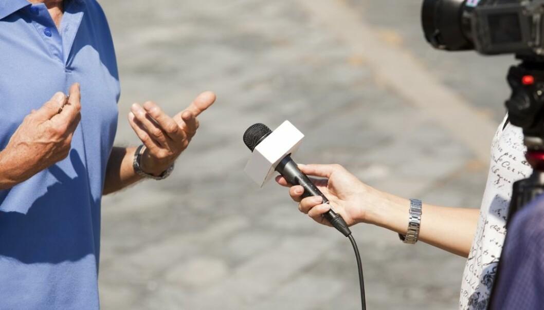 Dert store flertallet av forskere mener at forskningsformidling gjennom intervjuer er en viktig del av jobben deres.  (Foto: wellphoto/Shutterstock/NTB scanpix)
