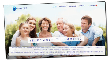 Immitec samarbeider med ledende forskere for å gi kundene sine de best dokumenterte helsekosttilskuddene, ifølge sin egen hjemmeside. (Faksimile fra Immitec.com)