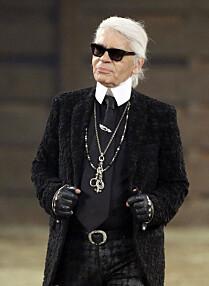 Det tyske moteikonet Karl Lagerfeld. (Foto: AP Photo/Tony Gutierrez)