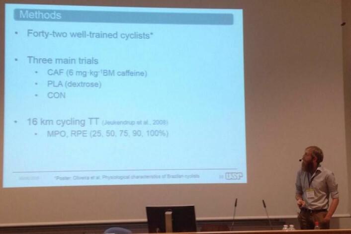 Bryan Saunders og hans «42 veltrente syklister» (Foto: Eivind Torgeren)