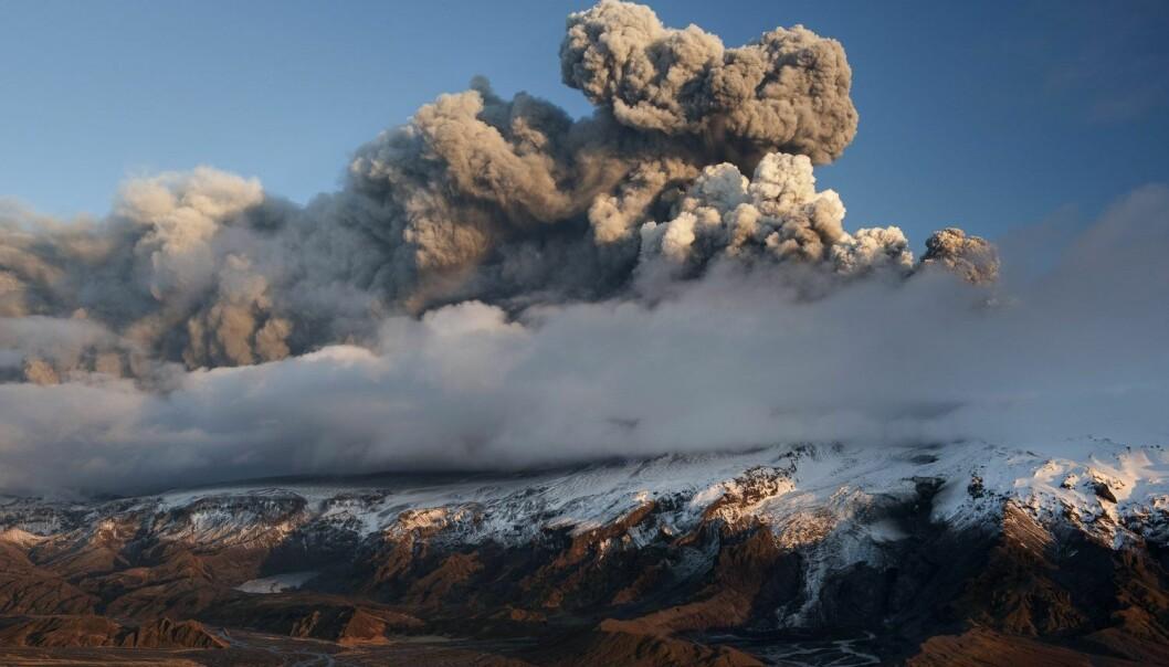Vulkanutbrudd ved Eyjafjallajökull i 2010, som fikk konsekvenser for hele Europa.  (Foto: Orsolya Haarberg, NN, Samfoto, NTB scanpix)