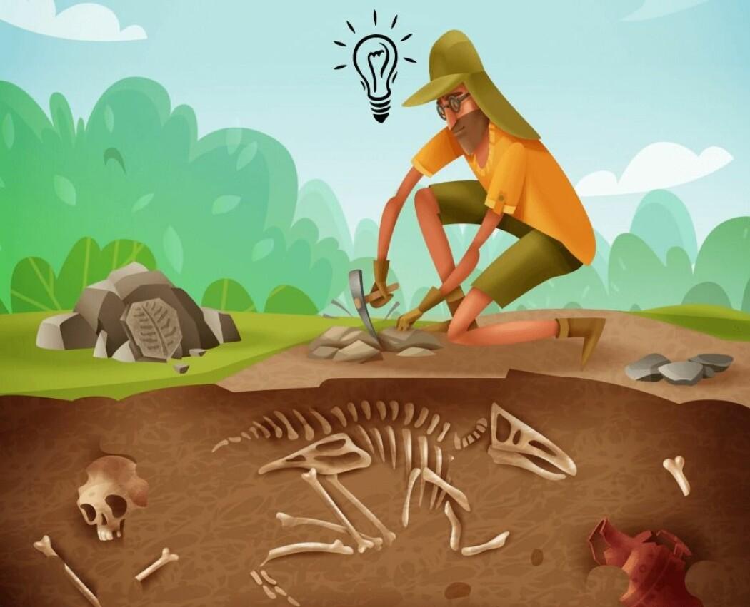 Hva bygger arkeologene konklusjonene sine på? (Foto: Macrovector / Shutterstock / NTB scanpix / Charlotte Price Persson)