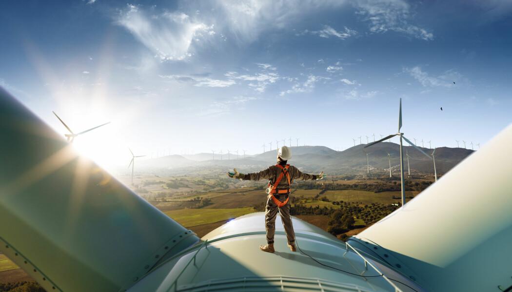 En overgang til mer fornybar elektrisitet kan minske karbonavtrykket. Men samtidig kan arealbruken øke. (Foto: Oleksii Sidorov / Shutterstock / NTB scanpix)