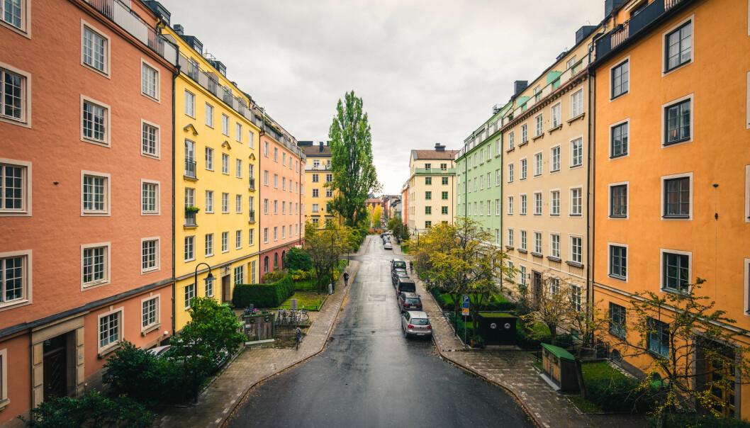 Stockholm er høyt på listen over byer truet av boligboble. Disse boligene ligger i den populære bydelen Vasastan. (Foto: Johan Ahnfalk / Shutterstock / NTB scanpix)