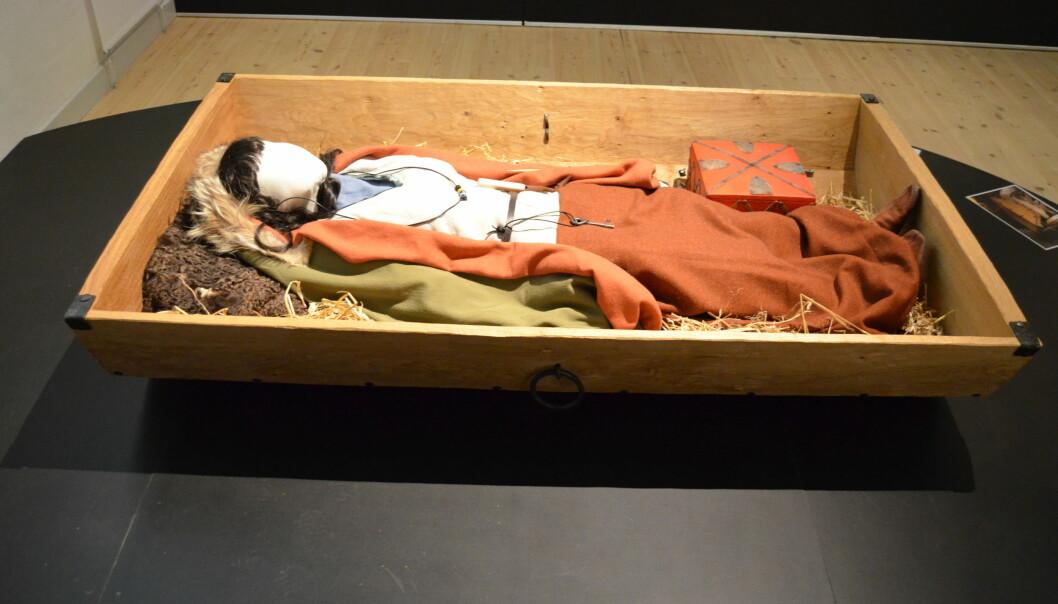 Kvinnen som ble begravet i dødshuset, har hatt høy status. (Foto: Museum Silkeborg)