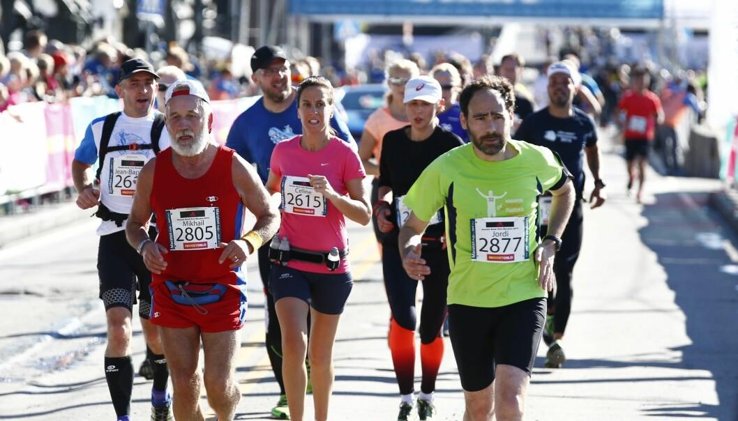 Nordmenn gjør det generelt meget bra i maratonløp. Her fra Oslo maraton i 2015. (Foto: Heiko Junge, NTB scanpix)