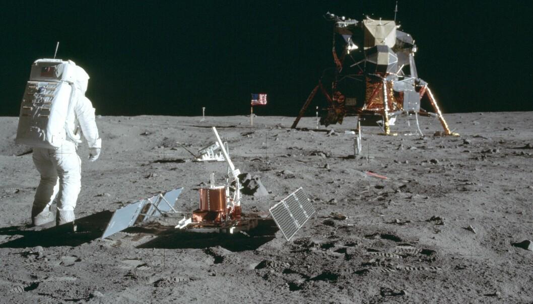 De kornete TV-bildene fra månelandingen i 1969 er blitt en del av verdens kollektive hukommelse. (Arkivfoto: NASA, AP, NTB scanpix)